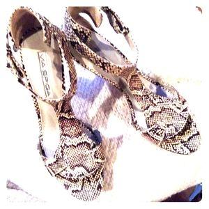 Snake skin heels by Via Spiga size 7.5